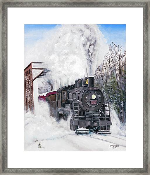 Northbound At 35 Below Framed Print