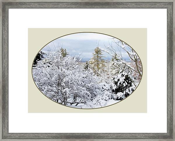 northeast USA photography button Framed Print