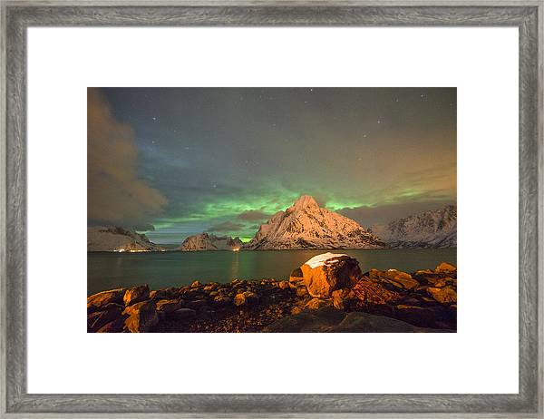 Spectacular Night In Lofoten 3 Framed Print