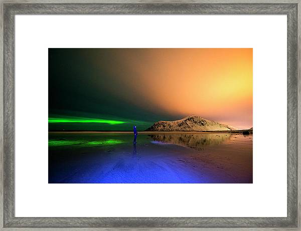 Northern Light In Lofoten, Nordland 4 Framed Print