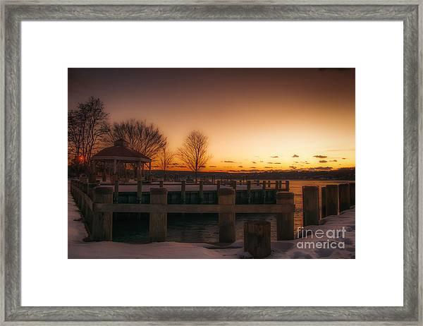 Northport Sunset Framed Print