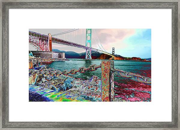 Northward On The Bridge Framed Print