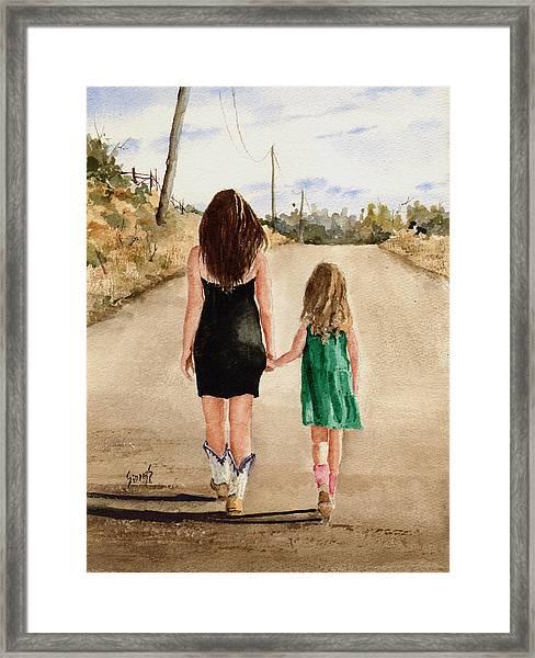 Northwest Oklahoma Sisters Framed Print