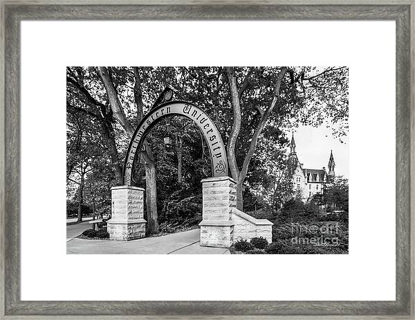 Northwestern University The Arch Framed Print