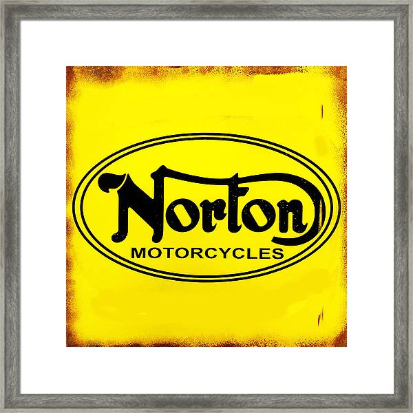 Norton Motorcycles Framed Print