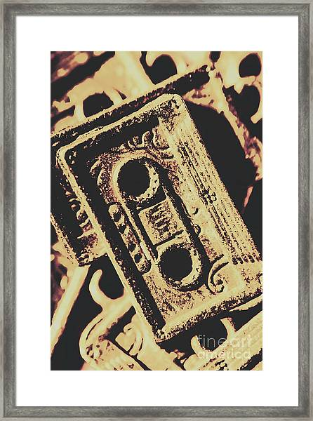Nostalgic Sound Framed Print