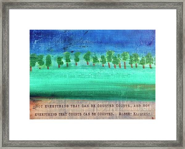 Not Everything Framed Print