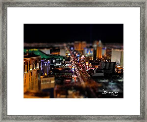 Not Everything Stays In Vegas - Tiltshift Framed Print