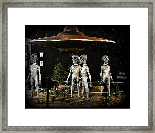 Not Of This Earth Framed Print