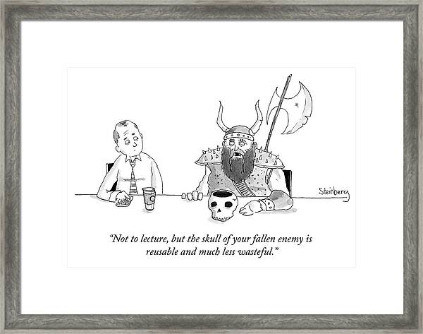 Not To Lecture Framed Print