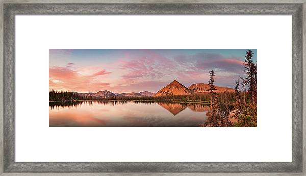 Notch Lake Panorama Framed Print