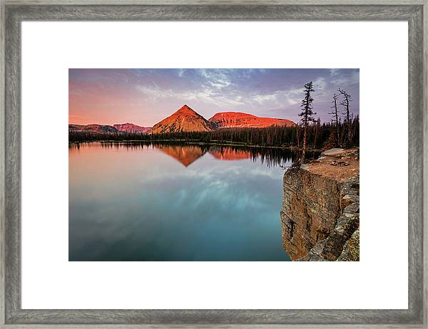 Notch Lake Sunset Framed Print