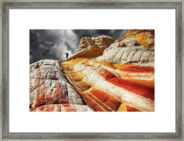 Nothing Is Ours But Time 3 Framed Print