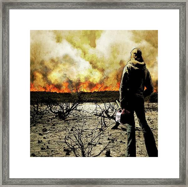 Nothing Left To Burn Framed Print