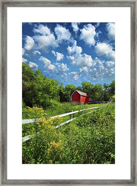 Noticing The Days Hurrying By Framed Print