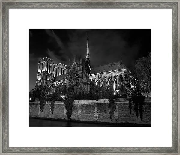 Notre Dame By Night, Paris, France Framed Print