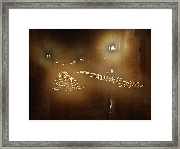Notre Dame Candles Framed Print