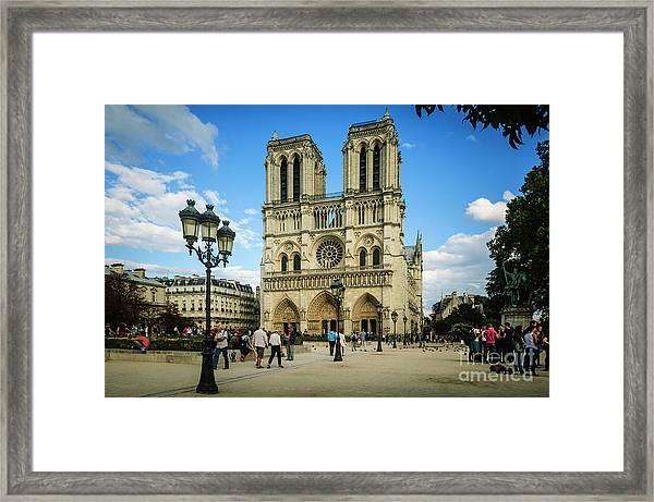 Notre Dame Cathedral Framed Print