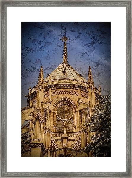 Framed Print featuring the photograph Paris, France - Notre-dame De Paris - Apse by Mark Forte