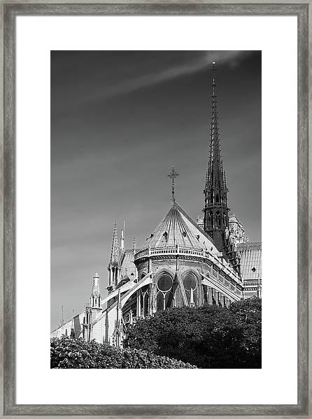 Notre Dame, Paris, France. Framed Print