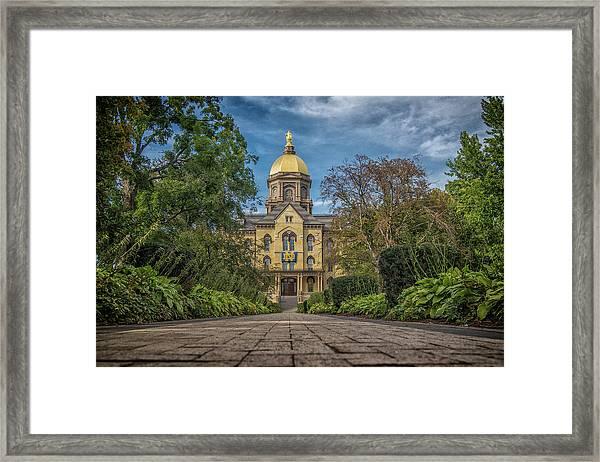 Notre Dame University Q1 Framed Print