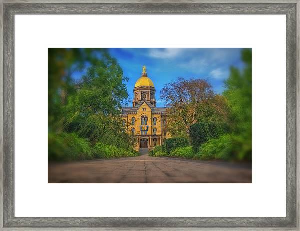 Notre Dame University Q2 Framed Print