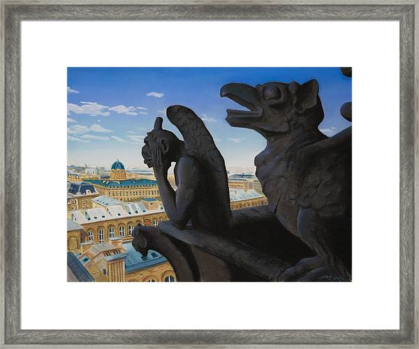 Notre Dame View Framed Print