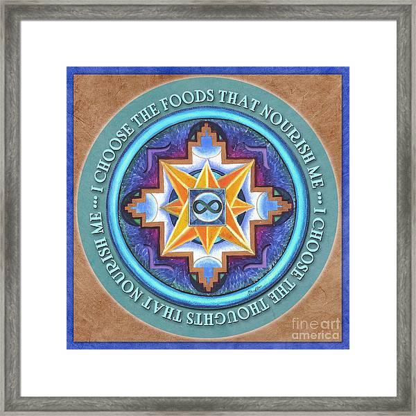 Nourish Mandala Prayer Framed Print