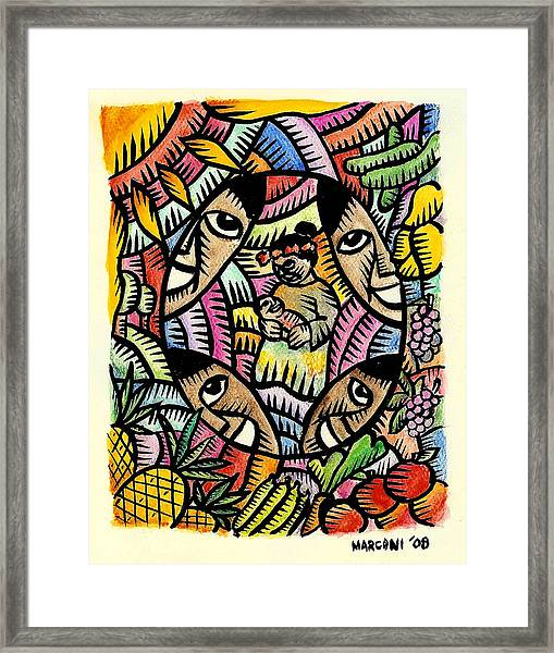 Nourishing The Island Children Framed Print