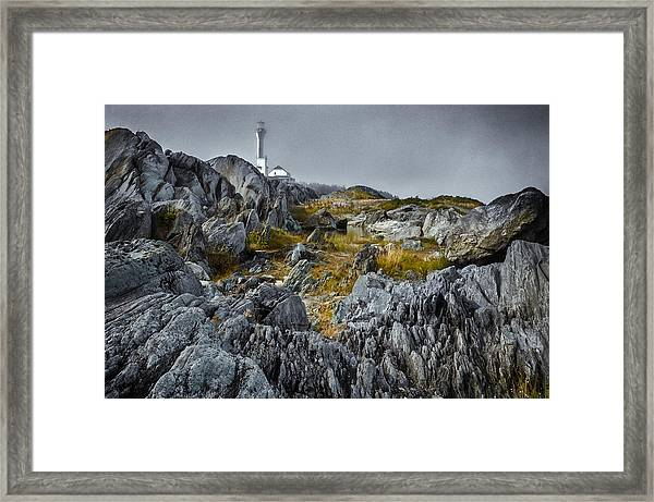 Framed Print featuring the photograph Nova Scotia's Rocky Shore by Garvin Hunter