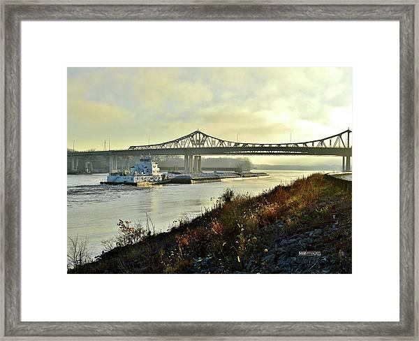 November Barge Framed Print