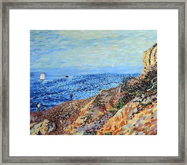 November Day At Point Lobos San Francisco Framed Print