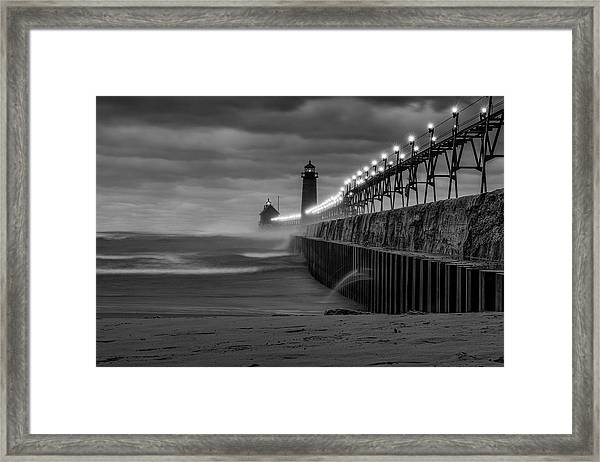November Gales In Grand Haven Framed Print
