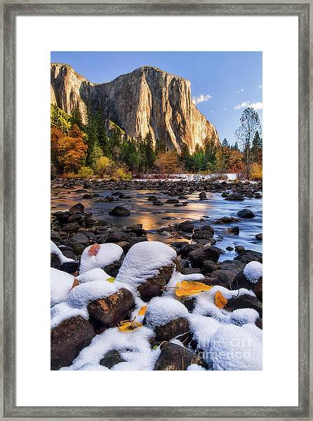 November Morning Framed Print