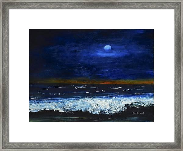 November Sunset At The Beach Framed Print
