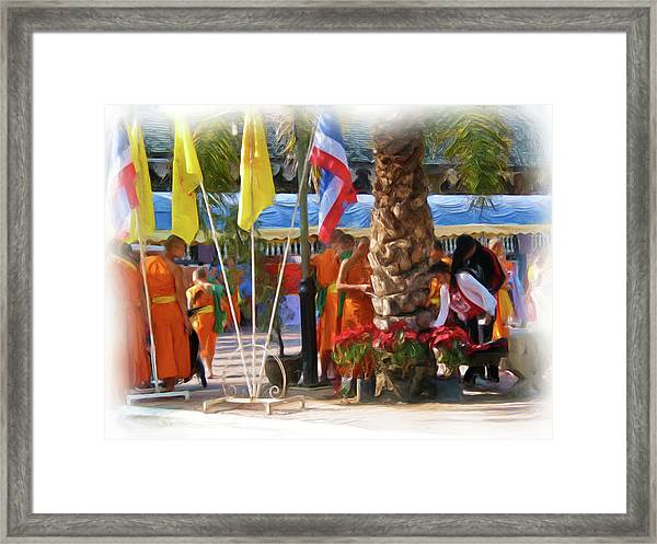 Novice Monk Fair 2 Framed Print