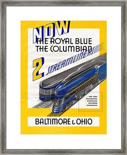 Now The Royal Blue The Columbian Framed Print