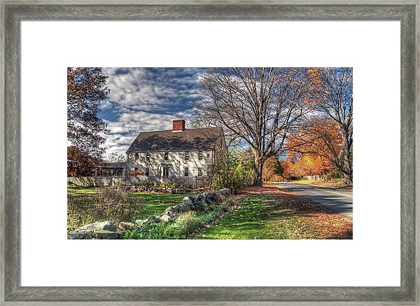 Noyes House In Autumn Framed Print