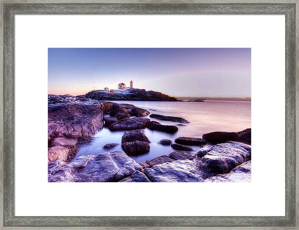 Nubble In The Morning Framed Print