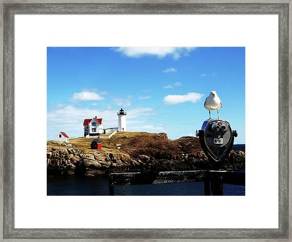 Nubble Light House Framed Print