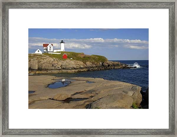 Nubble Light Maine Framed Print