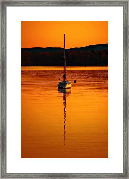Nuclear Sunset Framed Print