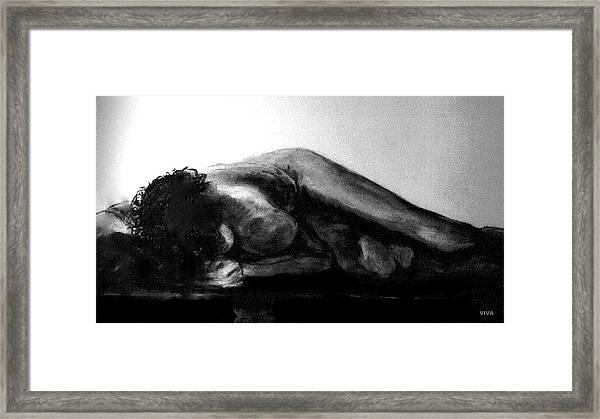 Nude As Landscape Framed Print