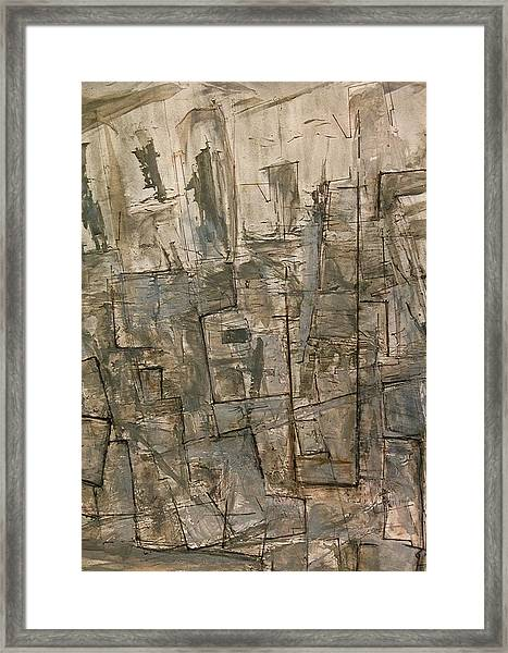 Nude Descending Stairs In Nyc Framed Print