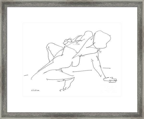 Nude-female-drawing-17 Framed Print
