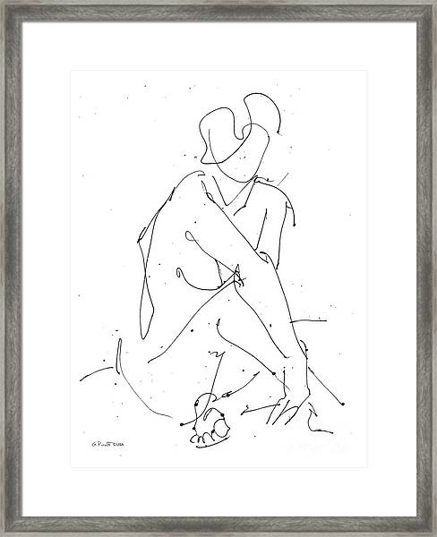 Nude-female-drawing-19 Framed Print