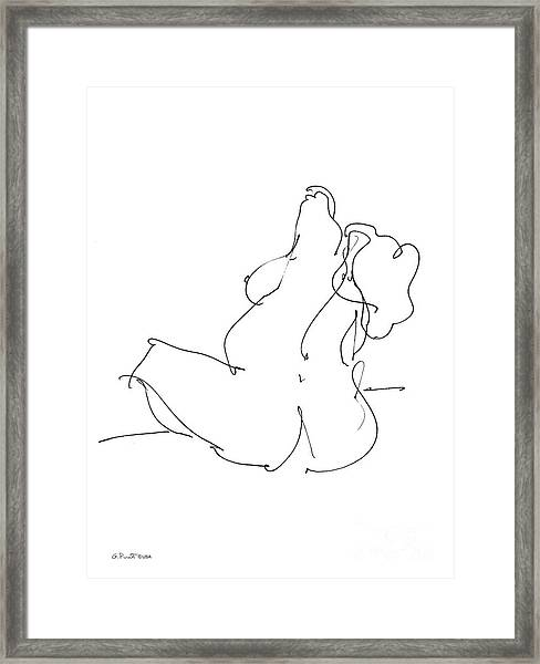 Nude-female-drawings-20 Framed Print