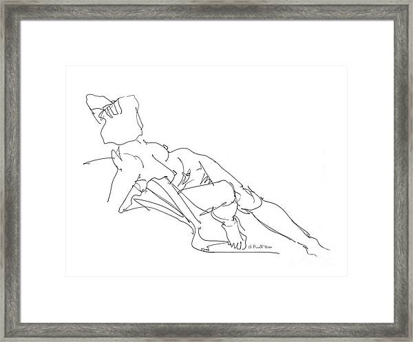 Nude Female Drawings 3 Framed Print