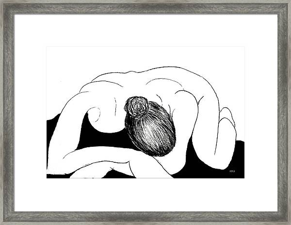 Nude In Supplication Framed Print