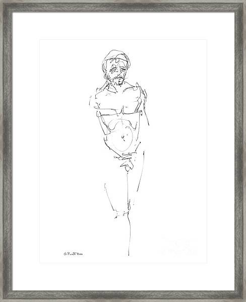 Nude Male Drawings 9 Framed Print